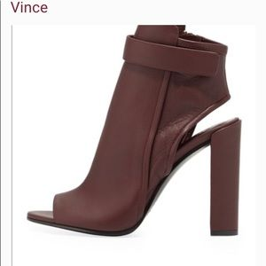 Vince Brigham high heel leather open toe boots